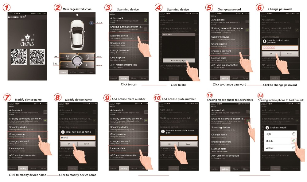 car alarm system android