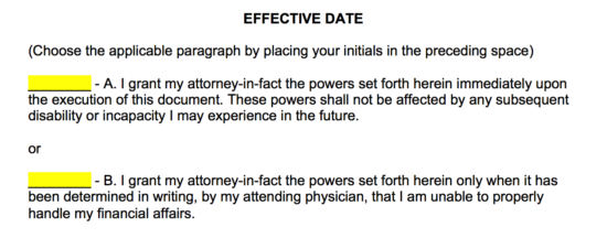 power-of-attorney-effective-date