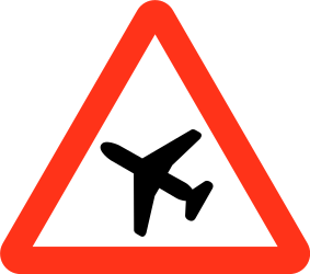 Traffic sign of Bangladesh: Warning for low-flying aircrafts