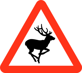 Traffic sign of Bangladesh: Warning for crossing deer
