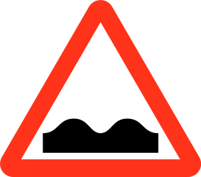 Traffic sign of Bangladesh: Warning for a bad road surface