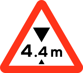 Traffic sign of Bangladesh: Warning for a limited height