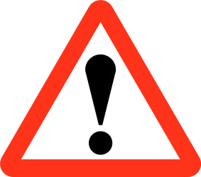 Traffic sign of Bangladesh: Warning for a danger with no specific traffic sign