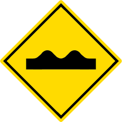 Traffic sign of Malaysia: Warning for a bad road surface