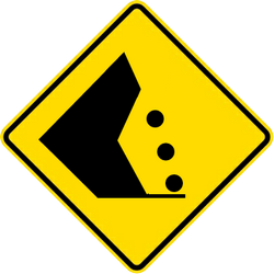 Traffic sign of Malaysia: Warning for falling rocks
