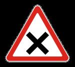 Знак пересечение равнозначных дорог – Дорожный знак 1.6 «Пересечение равнозначных дорог»